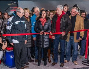 Greek Tourism Minister Olga Kefalogianni officially launching the revamped Parnassos Ski Center.