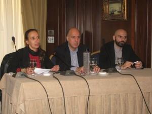 Margarita Manousou, events manager; Dimitris Antonakos, organizer; and Nikos Morantis, marketing director.