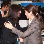 Alternate Tourism Minister Elena Kountoura and GTP's publisher, Maria Theofanopoulou