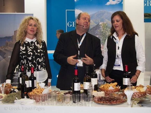 The gastronomy of the Peloponnese was presented to WTM's exhibitors and visitors.