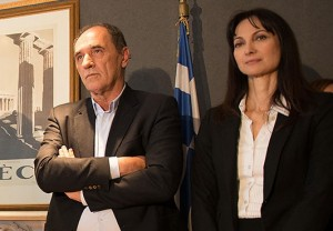 Minister of Economy, Infrastructure, Shipping and Tourism Giorgos Stathakis and Alternate Tourism Minister Elena Kountoura. Photo © GTP