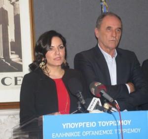 Outgoing Tourism Minister Olga Kefalogianni. Photo © GTP