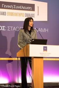Greek Alternate Minister of Tourism Elena Kountoura.
