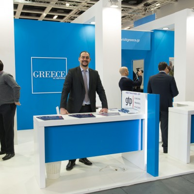Greek Travel Pages sales & advertising Manager Charis Brousalian at ITB Berlin 2015