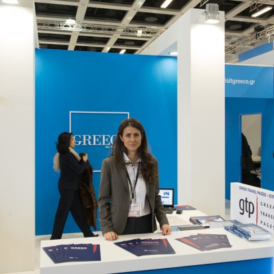 Greek Travel Pages publisher Maria Theofanopoulou at ITB Berlin 2015