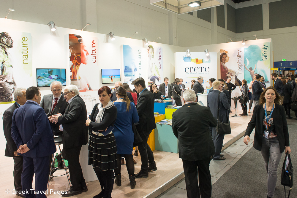 ITB Berlin 2015 busy 2nd day at the stand of Crete
