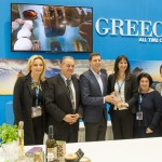 Alternate Tourism Minister Elena Kountoura at GNTO stand.