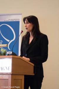 Alternate Tourism Minister Elena Kountoura.