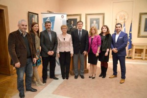 Representatives of City of Athens Vocational Training Center, EATA, the Embassy of the Russian Federation in Greece and Mouzenidis Group.