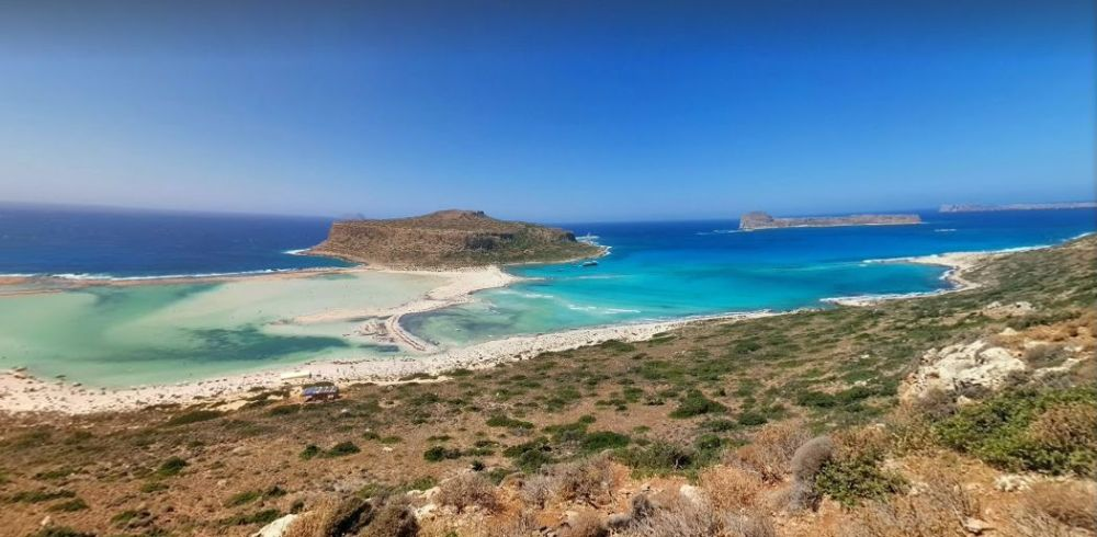 Balos Beach in Crete  as seen through Google.