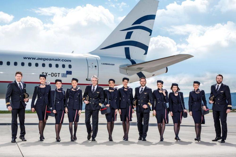 Aegean airlines crew uniform
