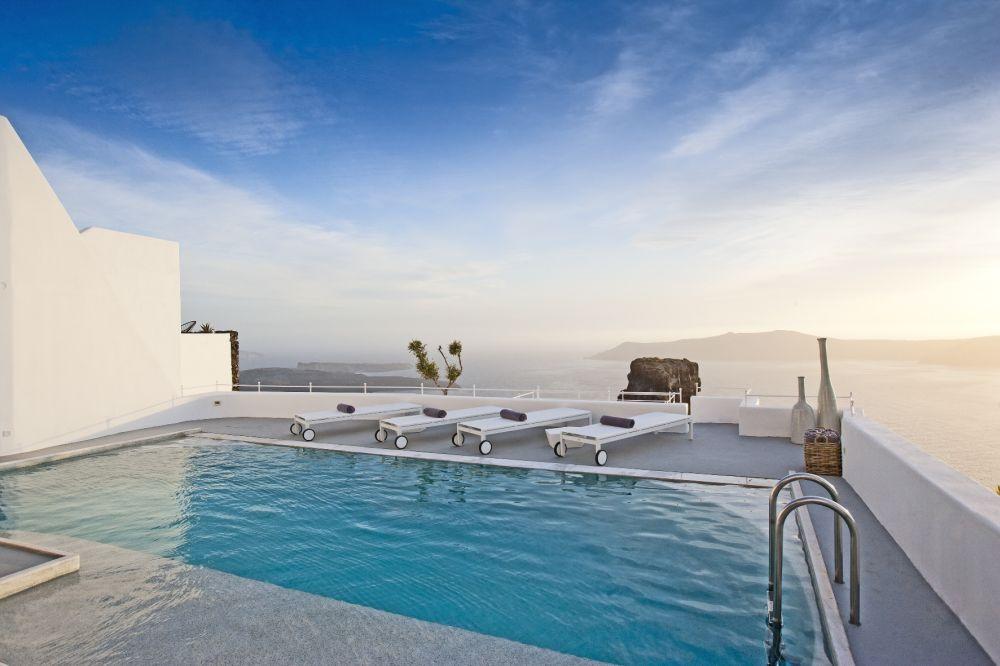 Villa Swimming Pool at Grace Santorini.