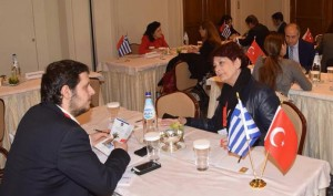 Turkish and Greek travel agents discussing cooperations. Photo: Paterakis