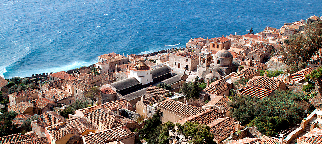 Monemvasia in Laconia, Greece