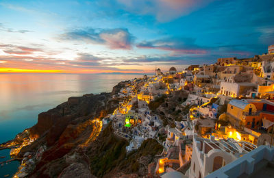 Santorini Island Cyclades Greece