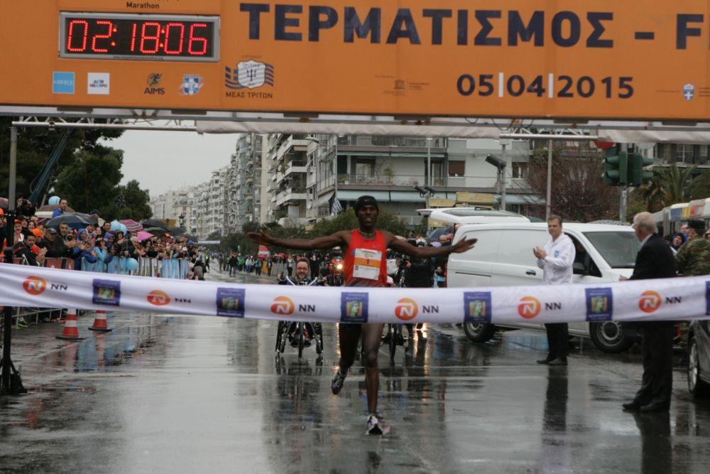 Gonfa Bonsa Atomsa: Winner of the 10th Alexander the Great International Marathon.