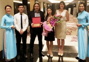 """During the event, Argo Travel Group by the VITM organizing Committee with the """"Certificate of Recognition for having actively participated in VITM both in 2014 & 2015""""."""