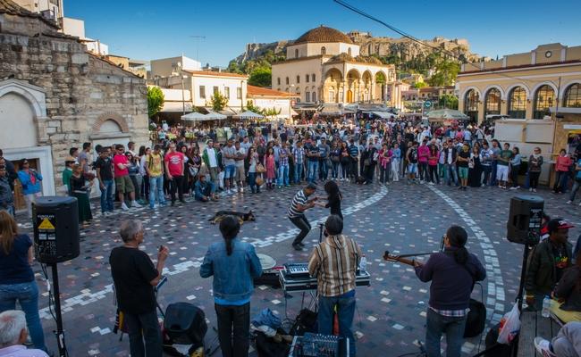 Monastiraki Square, Athens. Photo © Maria Theofanopoulou