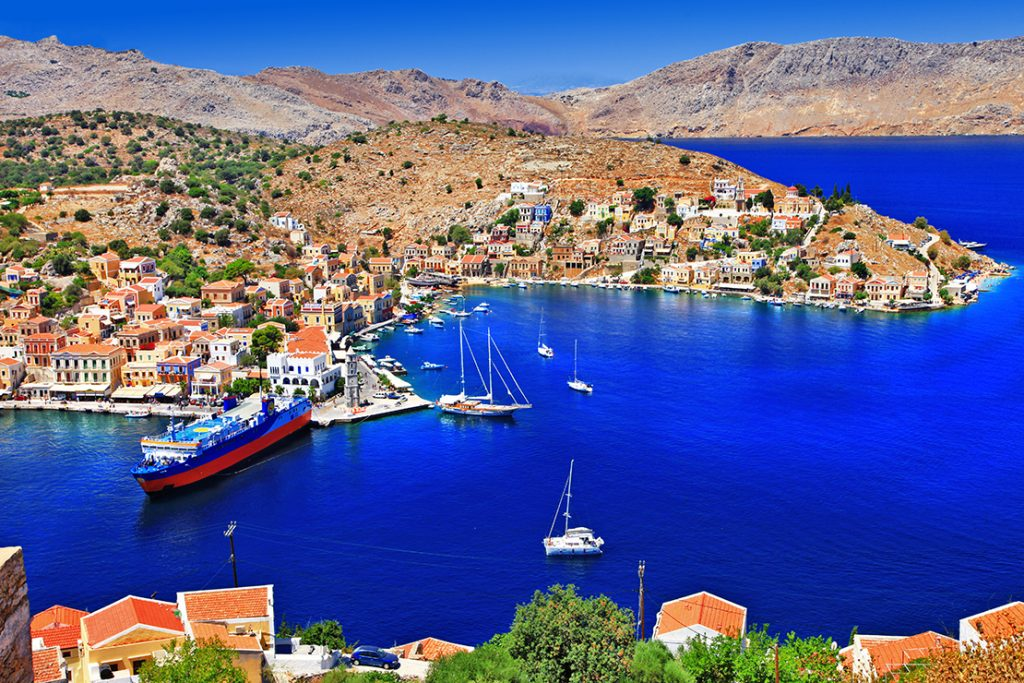 Symi Island Port Aerial - Copyright: leoks / Shutterstock