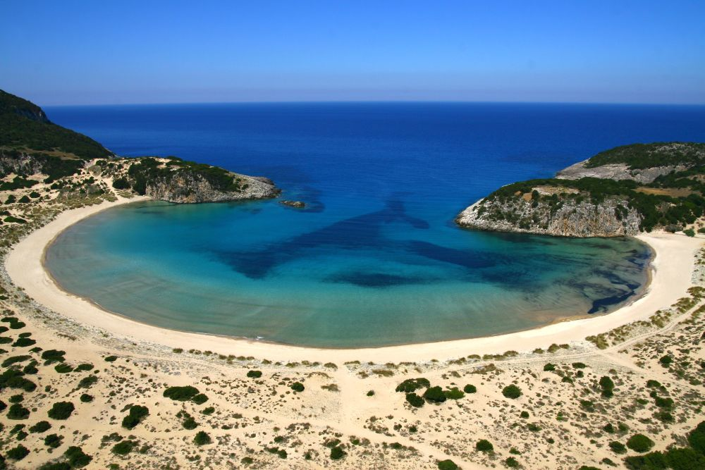 Voidokilia Beach, Costa Navarino. Photo source: TEMES