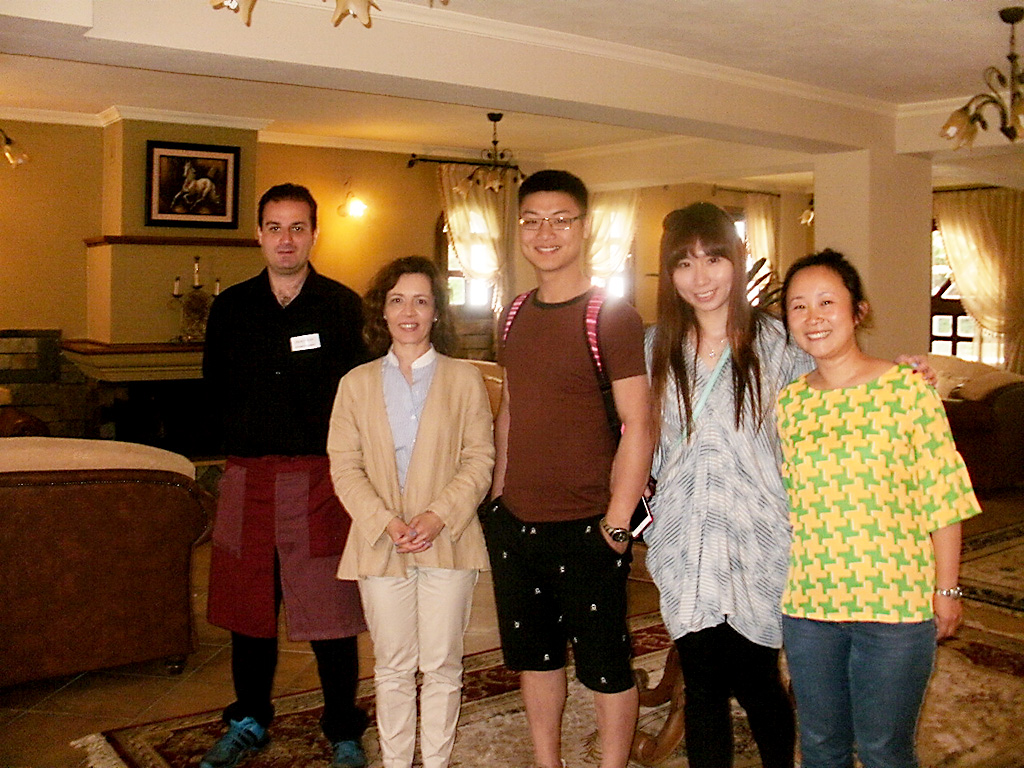 Anamar Pilio Resort Manager Ioanna Polyzou (second from left) with Chinese guests.