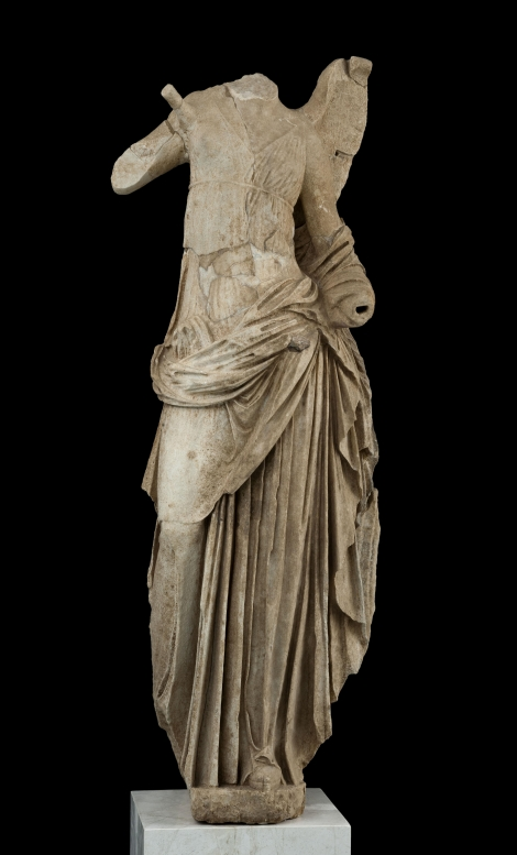 Niki's Statue, one of the four headlands of Sanctuary roof, 125-100 B.C. - Photo © Museum of Acropolis