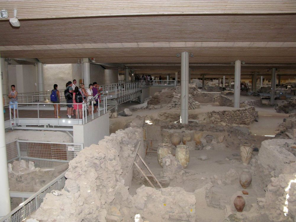 Archaeological Site of Akrotiri of Thera.