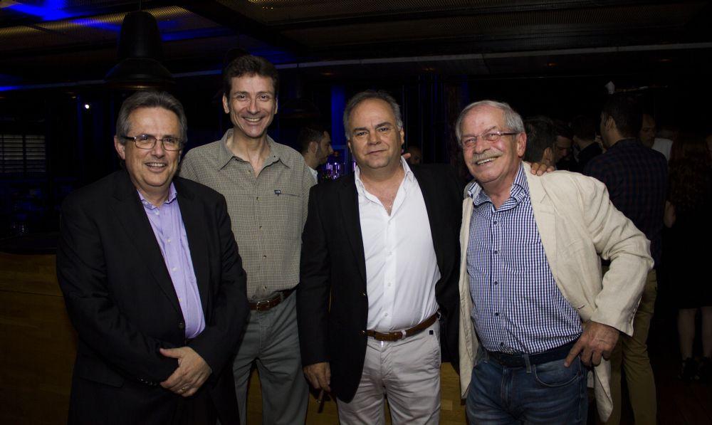 Panagis Vassilatos, General Manager, Galant Hellas (far left); Leonidas Zotos, Travelport Country Manager Greece (center); and Dinos Frantzeskakis, President, Hellenic Association of Airline Representatives-SAAE (right).