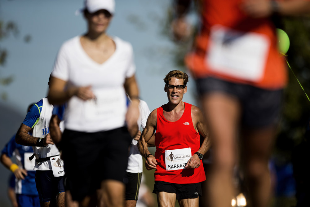 Ultramarathon athlete Dean Karnazes runs during the 1st Navarino Challenge Run. Photo credit: Vladimir Rys