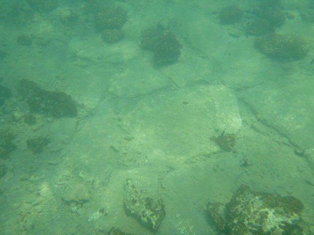 A part of the underwater settlement's pavement.