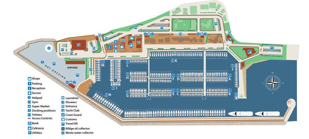 Rhodes marina plan.