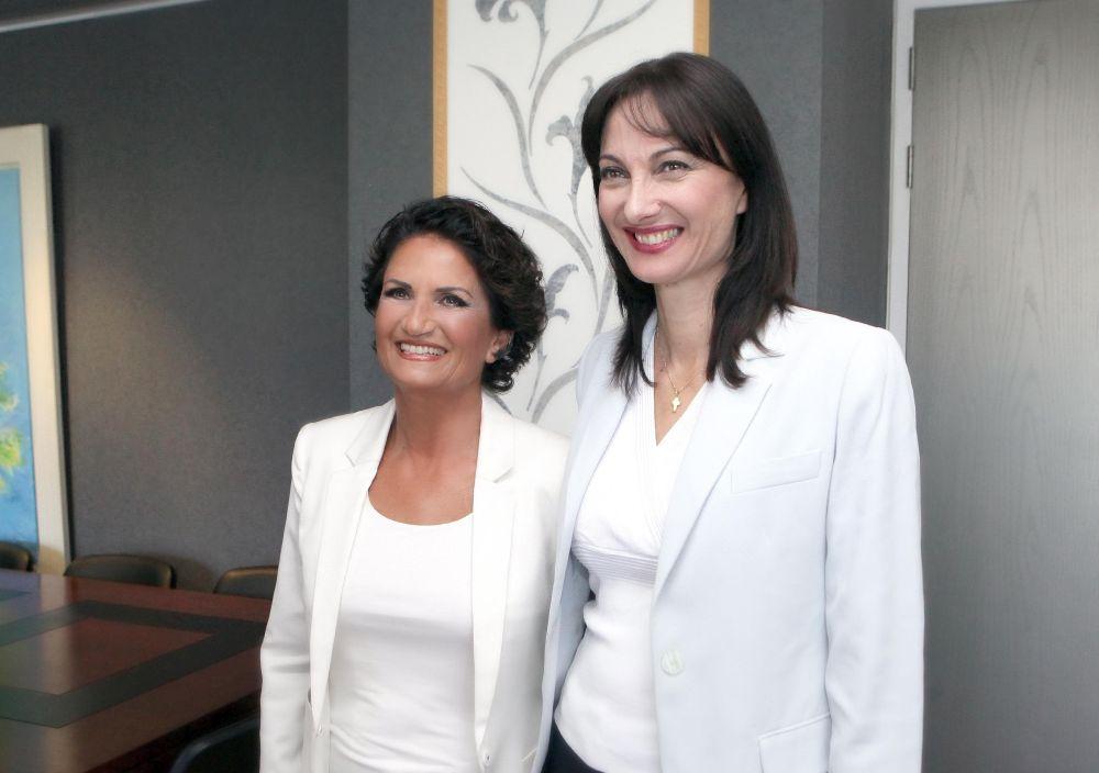 Interim Alternate Tourism Minister Alkistis Protopsalti taking over her new post from Elena Kountoura.