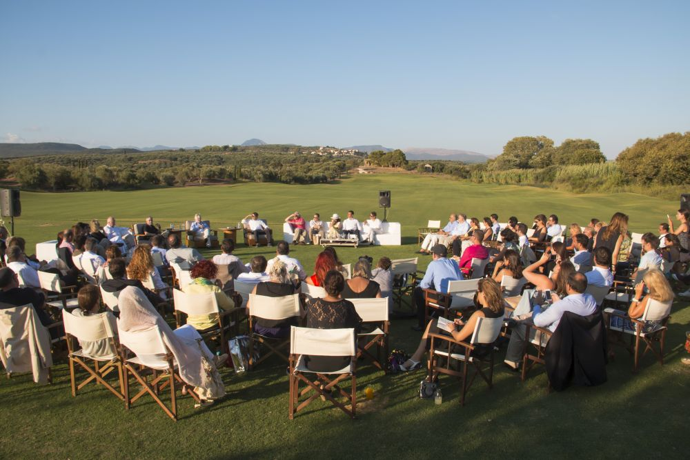 Art & Democracy Forum at Costa Navarino, set among the olive groves of Messinia.