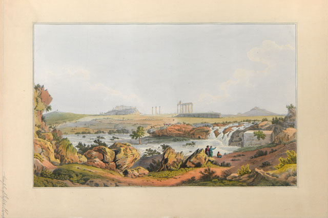 The Τemple of Olympian Zeus and the river Ilissos from the book of Edward Dodwell, Views in Greece, London 1821.