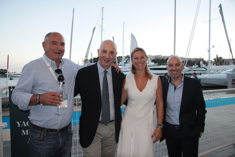 GYA President Michael Skoulikidis (second from left) at the cocktail reception held at Yacht Club de Monaco on the sidelines of the 25th Monaco Yacht Show held recently.