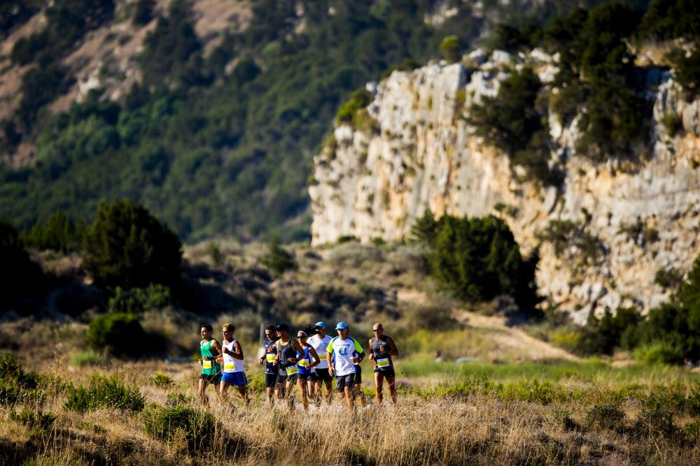 The half marathon route (21,1km) in Navarino Challenge (photo by Vladimir Rys).