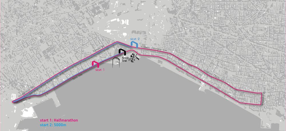 Thessaloniki Night Run_map
