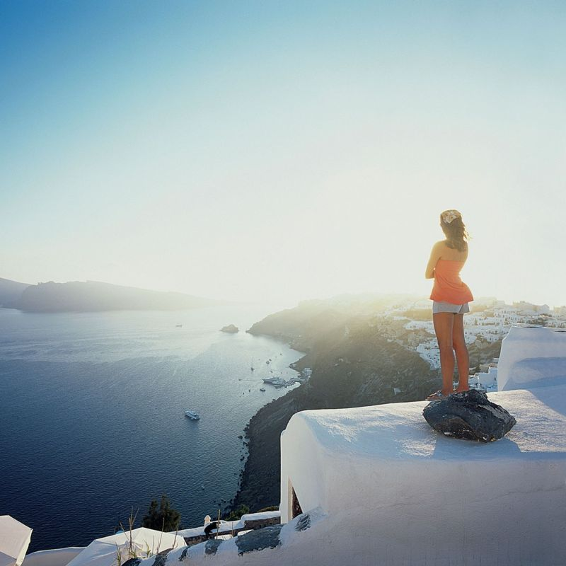 View across the Caldera to Oia, Santorini, Greece. Photo source: Conde Nast Traveller, Yiorgos Kordakis