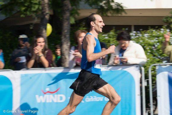 Athens Marathon 2015, 3rd Place: Dimos Evangellidis.