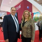 George Maroutsos, President Greek Union of Air Travel Agencies and Katerina Mousbeh, Owner and Managing Director of Mideast Travel.