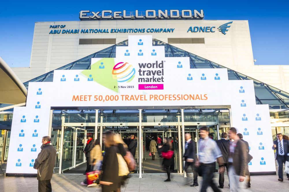 Delegates and Exhibitors outside ExCel London