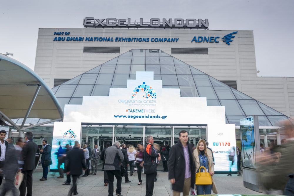ExCel London entrance.