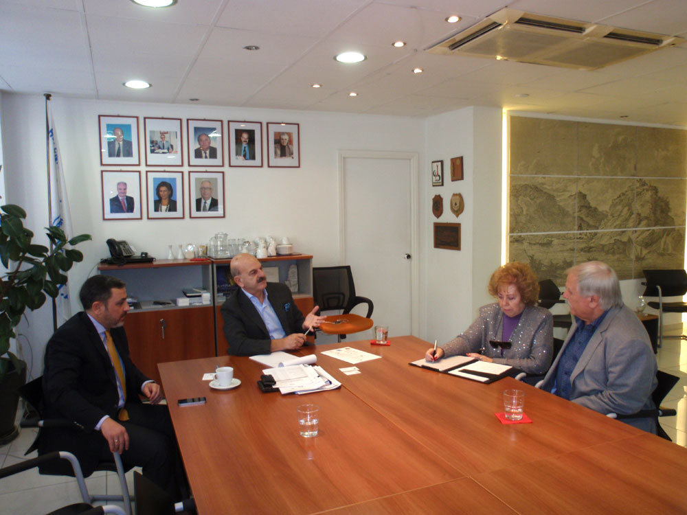 HATTA and Fed HATTA President Lysandros Tsilidis with FETAVE President Mary Cruz Perez Valdivielso at HATTA's offices in Athens.