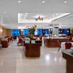 Titania Hotel, breakfast hall.