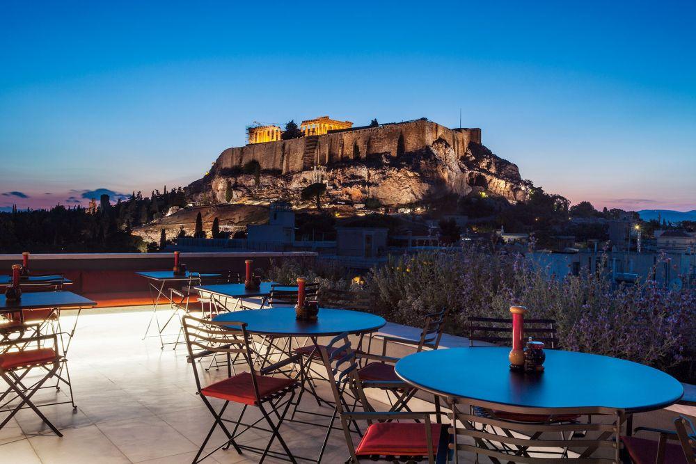 Modern Restaurant Rooftop Bar Photo: © AthensWas Hotel
