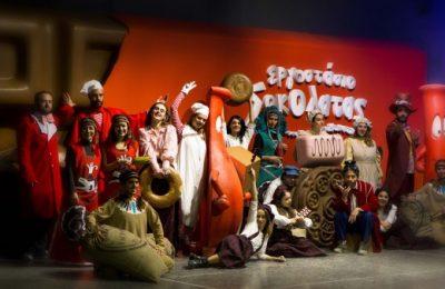 Santa Claus Sleds His Way to Athens' Choco Factory