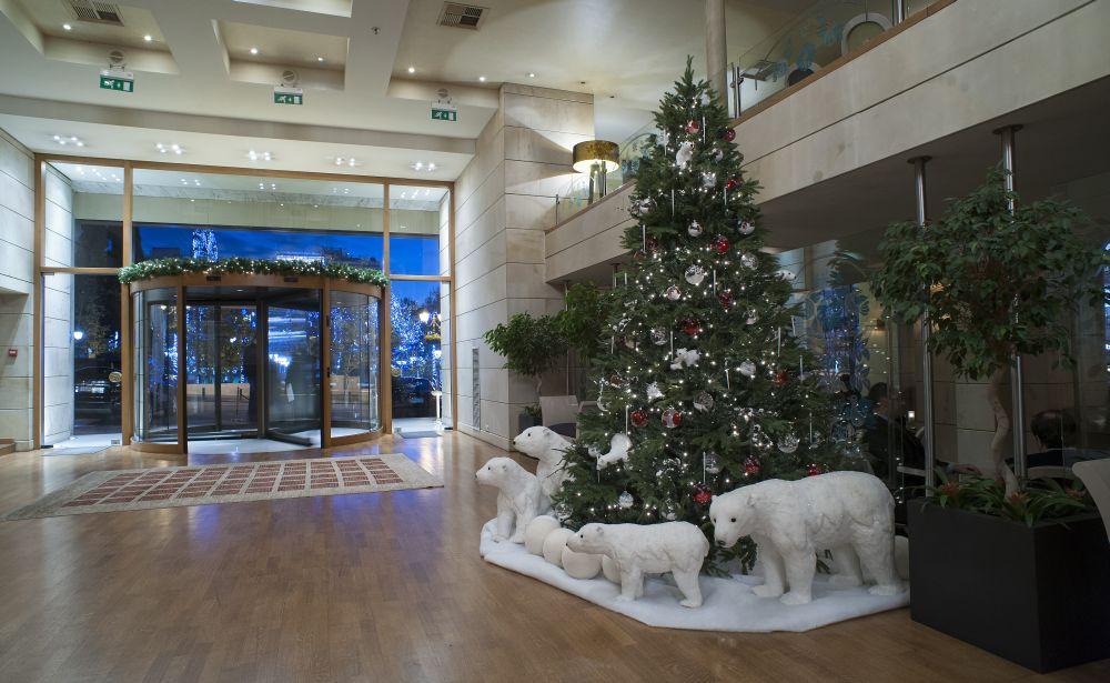 NJV Athens Plaza lobby.