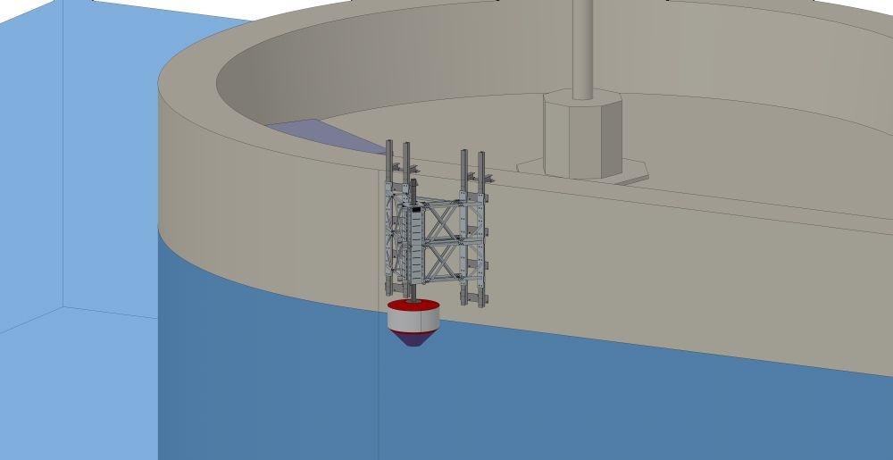 SINN wave power converting plant.