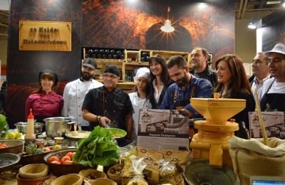 """Cellar of the Peloponnese"" at Greek Tourism Expo."