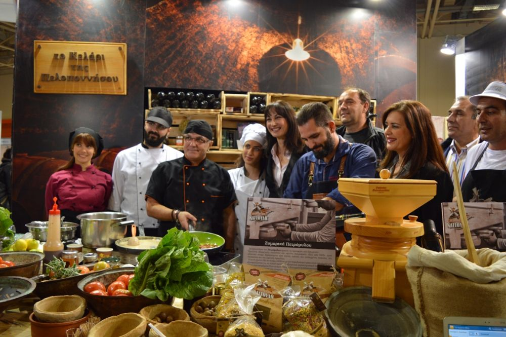 """""""Cellar of the Peloponnese"""" at Greek Tourism Expo."""